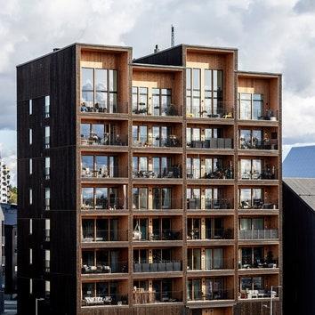 Бюро C. F. Møller Architects построило самое высокое деревянное здание в Швеции