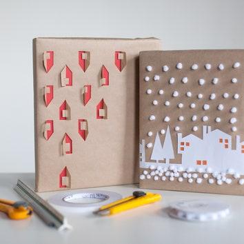Как оформить новогодние подарки красиво: Елизавета Голубцова и Марина Бирюкова из студии BIGO упаковывают книгу в подарок