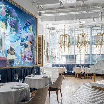 Греческий ресторан по проекту Sundukovy Sisters в Гонконге