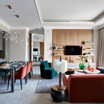 Квартира с яркой мебелью по проекту Татьяны Мироновой, 50 м²