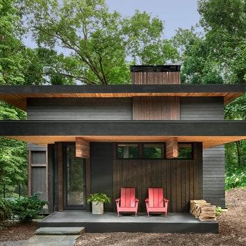 Дом для отдыха посреди леса