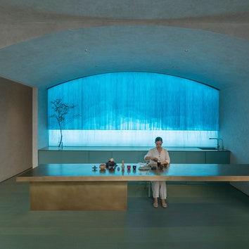 Артистичный минимализм в интерьере спа-клиники в Пекине