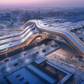 Бюро Zaha Hadid Architects построит в Таллине железнодорожную станцию