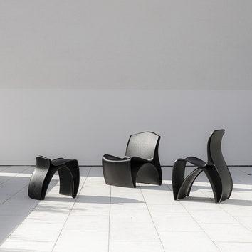 3D-мебель: стулья и табуреты из переработанного пластика