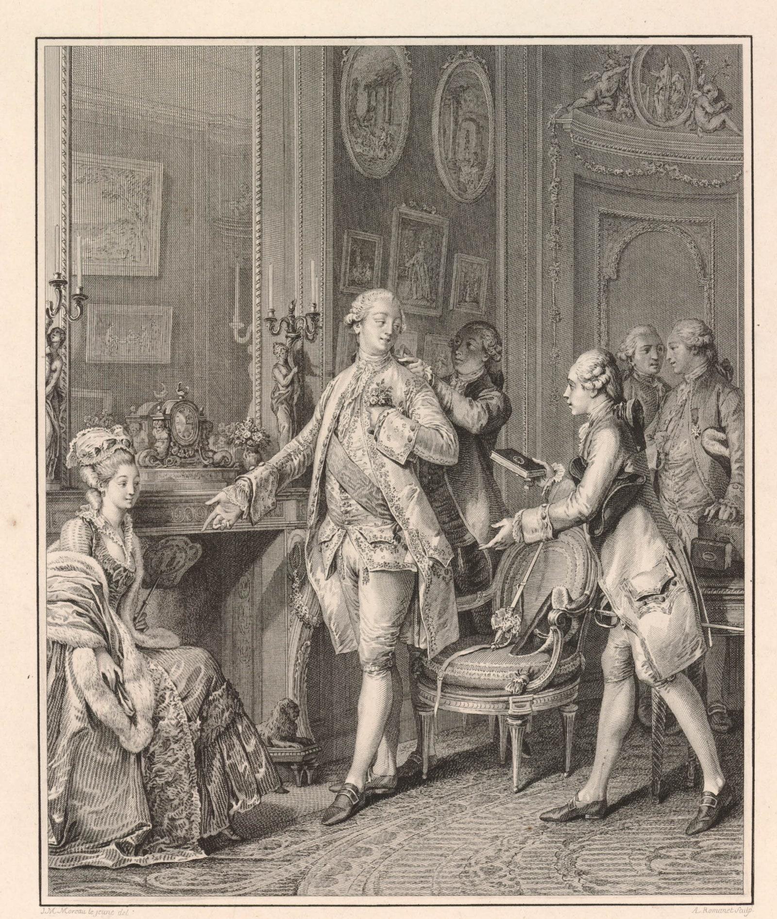 .  .    Monument du costume.    .  1777.  . . . .