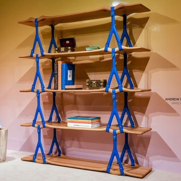 Новый Objet Nomade Louis Vuitton: полка Swell Wave по проекту Эндрю Кудлесса на Design Miami/ 2019