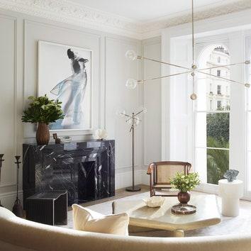 Светлая квартира с винтажем и искусством в Лондоне