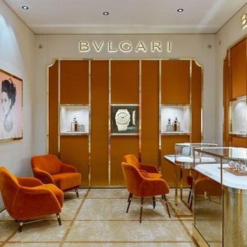 Первый часовой бутик Bvlgari в Москве