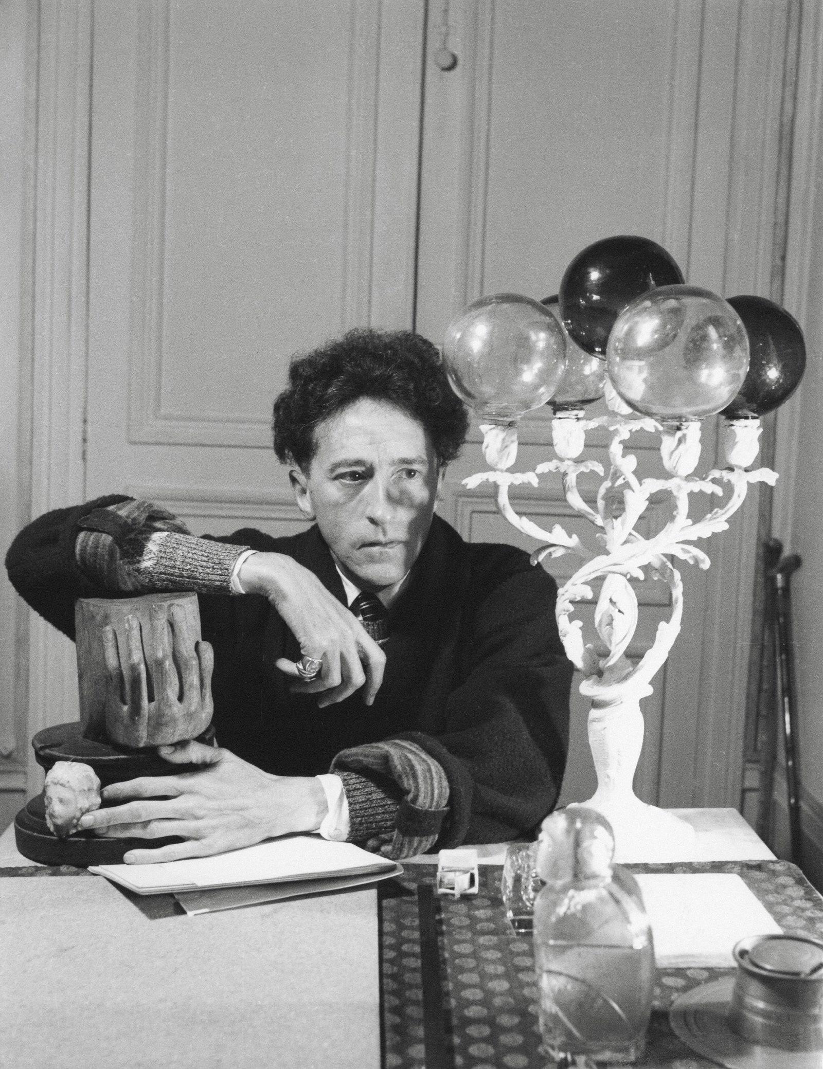 Serge Lido Photography. Jean Cocteau  Dans Sa Maison Paris 1939. Silver gelatine print.