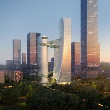 Бюро Steven Holl Architects построит в Шэньчжэне два небоскреба с крытыми мостами