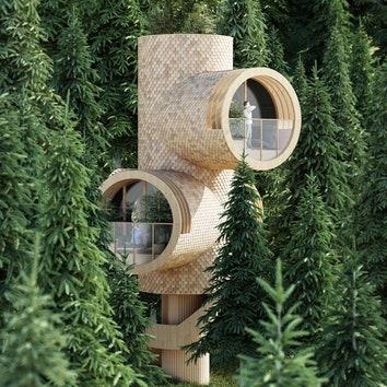 Проект модульного дома для аренды по проекту студии Precht