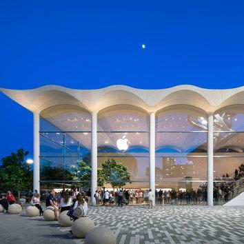 Новый магазин Apple в Майами по проекту Foster + Partners
