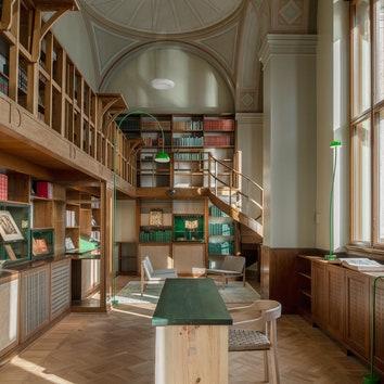 Экологичный редизайн библиотеки при Национальном музее Швеции