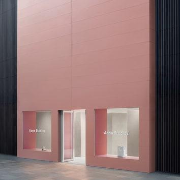 Новый минималистичный бутик Acne Studios в Китае