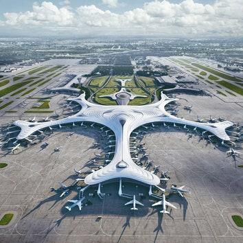 MAD Architects построит в аэропорту Харбина терминал в форме снежинки