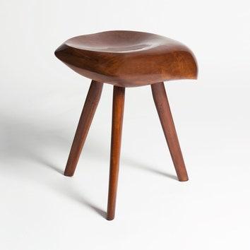 Табурет подизайну Мишель Шове, оливковое дерево 1962. Галерея Magen H.