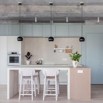 Квартира со сложной планировкой в Москве, 108 м²