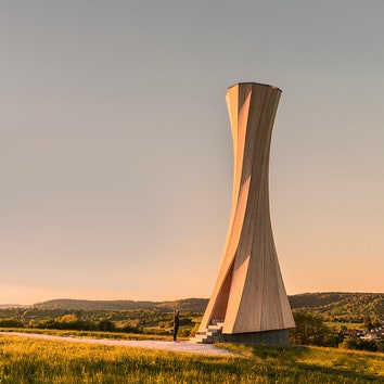 """Башня из """"самоформирующегося"""" дерева в Германии"""