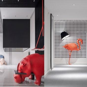 Отель с фигурами животных в Китае