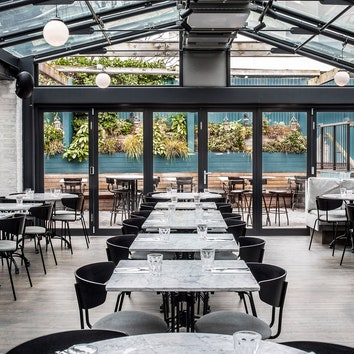 Ресторан-оранжерея в Лондоне