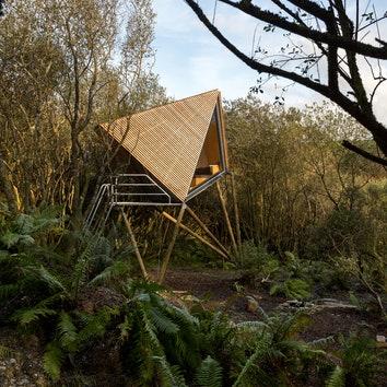 #отпускпообмену: домики в заброшенном сланцевом карьере