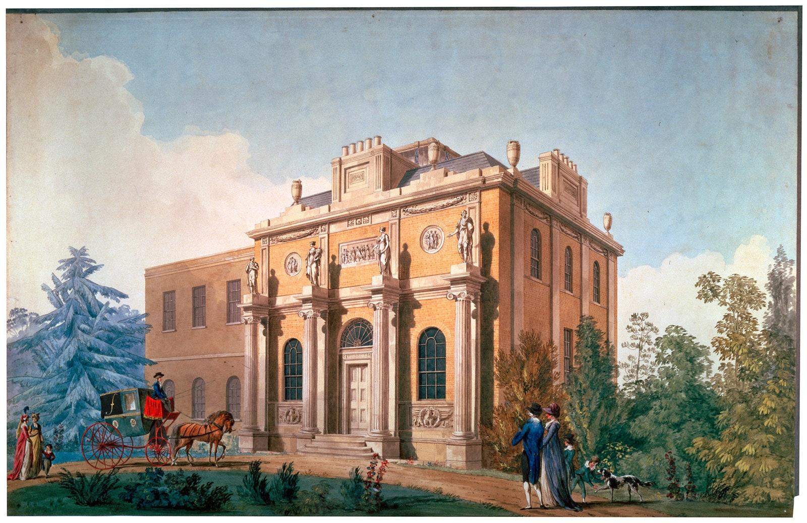 Pitzhanger Manor Joseph Gandy 1800.  Sir John Soanes Museum London