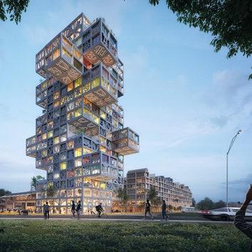 Проект многофункционального комплекса в Германии от бюро MVRDV