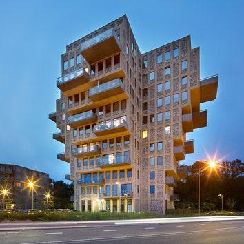 Скульптурная жилая башня в Нидерландах