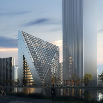 В Ханчжоу началось строительство комплекса по проекту OMA