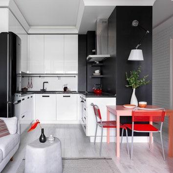Квартира для небольшой семьи по проекту Марии Степановой, 43м²