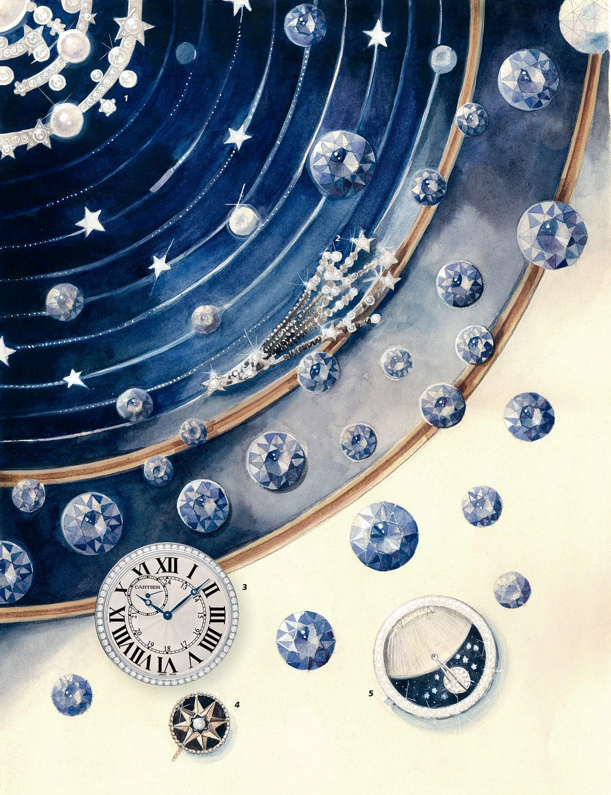 1.  Spirale     Chanel. 2.  Nuit de Diamants      Chanel. 3.  Ronde Louis Cartier       Cartier. 4.  Rose des Vents    ...