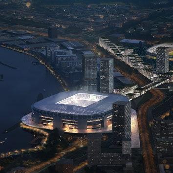 Бюро OMA построит самый большой в Нидерландах футбольный стадион