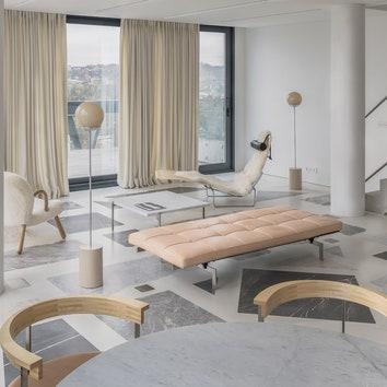 Нежная двухэтажная квартира в Литве по проекту DO Architects