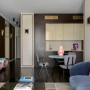 Квартира с атмосферой ар‑деко, 68 м²