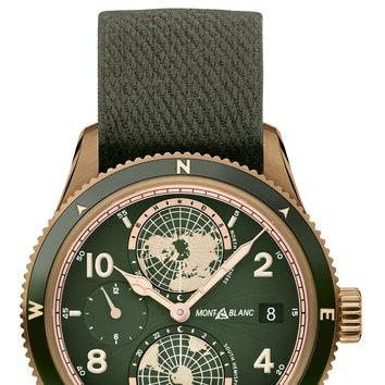 Часы изколлекции 1858, Montblanc. Калибр МИ 24.15c автоматическим подзаводом изапасом хода 38часов. Тираж 1858штук. .