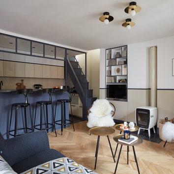 Квартира в Париже по проекту Марианны Эвенну, 42 м²