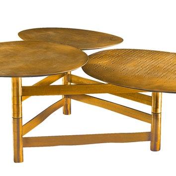 Журнальный столик, латунь, Henge.
