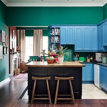 Как оформить цветную кухню: 9 примеров