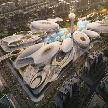 Развлекательный центр в Шардже по проекту Zaha Hadid Architects