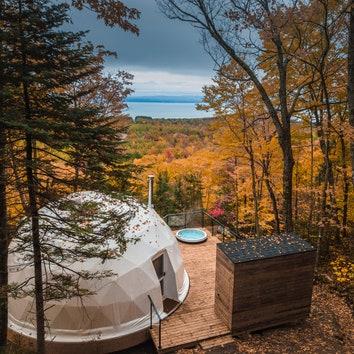 Глэмпинг-отель в канадских горах