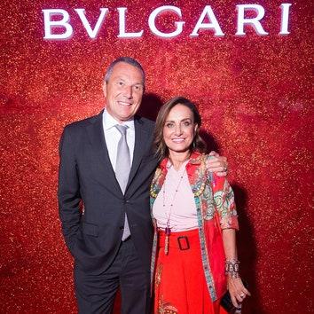 Жан-Кристоф Бабен и Лючией Сильвестри, креативный директор BVLGARI.