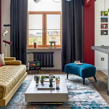 Яркая квартира в сталинском доме, 55 м²