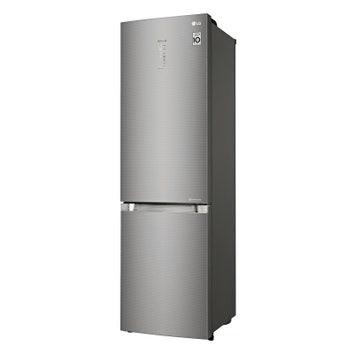 Холодильник с нижней морозильной камерой GA-B499TGTS, металл, LG.