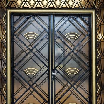 Michel Polak, Door, Louis Empain Villa, Brussels, 1934.