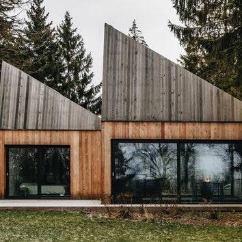 Традиционный эстонский деревянный домик в Мурасте