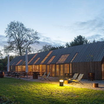 Туристический центр на территории усадьбы в Голландии