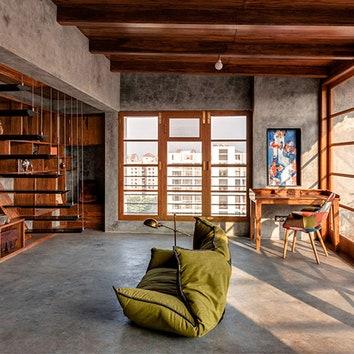 Идеальная зона отдыха: веранда на крыше в Индии