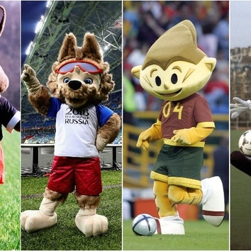 Талисманы чемпионатов мира и Европы по футболу: история в фотографиях