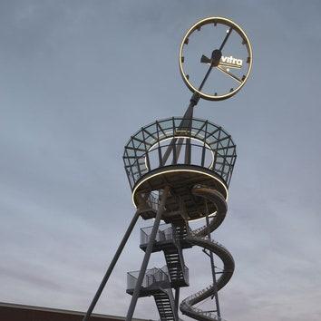 Башня с горкой в кампусе Vitra. Подробности по клику на изображение. https://admagazine.ru/arch/45204_bashnya-s-gorkoy-v-kampuse-vitra.php.