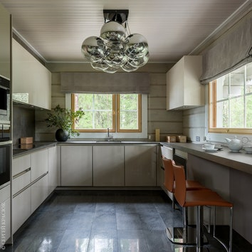 Кухня. Кухонный гарнитур, Beckermann; текстиль, Osborne & Little; свет, Viso.